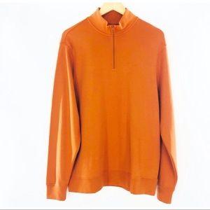 Vineyard vines jersey 1/4 zip orange sweater L